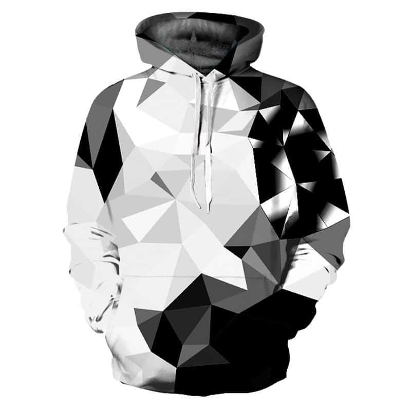 Chill Hoodies White and Black Diamond Hoodie Unisex Adult Sweatshirt