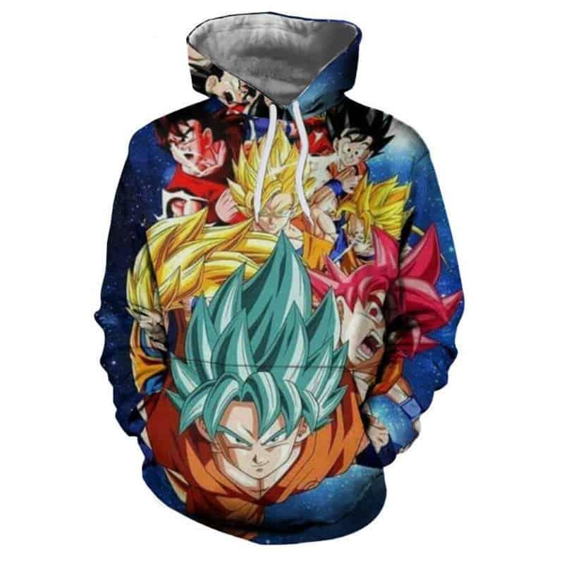 Chill Hoodies Dragon Ball Z Hoodie Goku Hair Styles Unisex Adult Sweatshirt