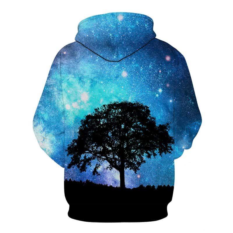 Chill Hoodies Sweatshirts Men Women Kids Adult Galaxy Tree Hoodie Concept 1