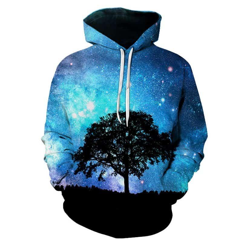 Chill Hoodies Galaxy Tree Hoodie Unisex Adult Sweatshirt