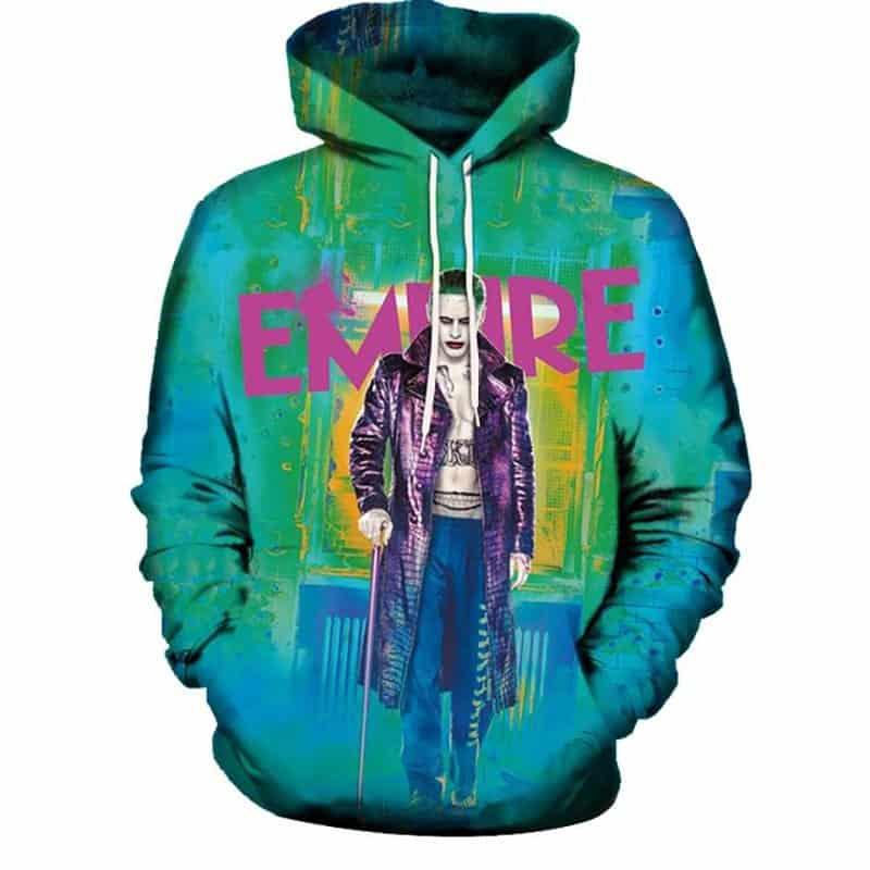 Chill Hoodies Empire Joker Hoodie Suicide Squad Movie Franchise Neon Style Unisex Adult Sweatshirt