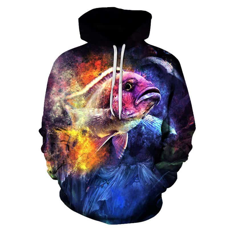 Chill Hoodies Galaxy Fishing Hoodie Concept Space Fish Unisex Adult Sweatshirt