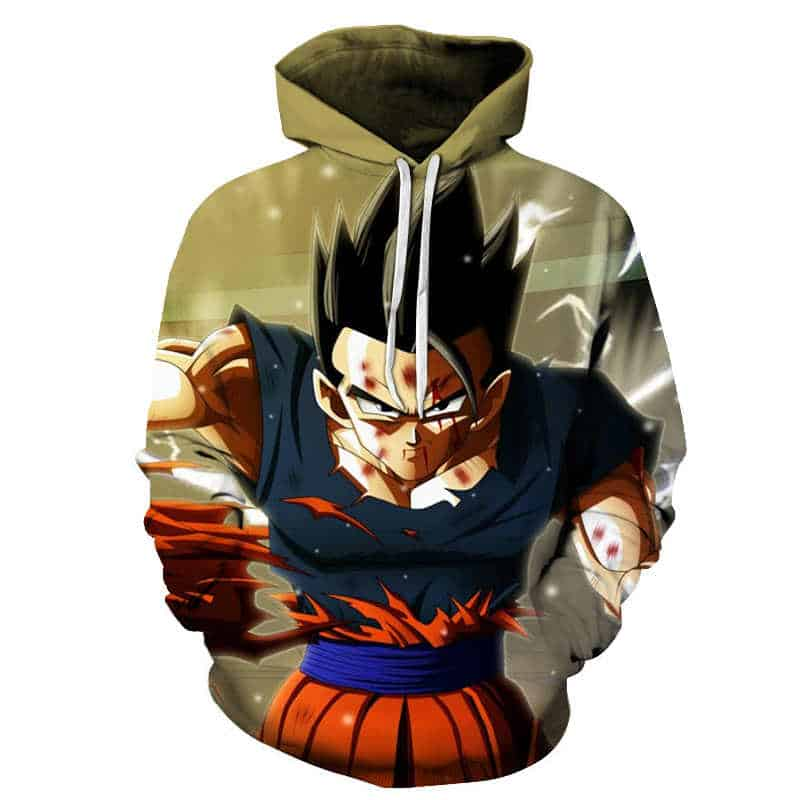 Chill Hoodies Battle Torn Goku Dragon Ball Z Hoodie Unisex Adult Sweatshirt