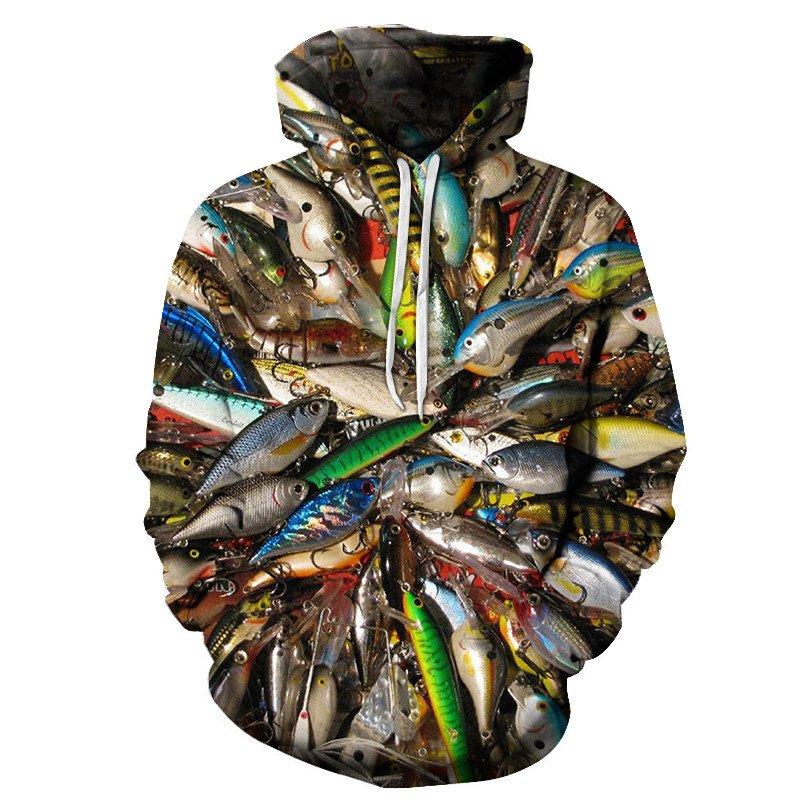 Chill Hoodies Fish School Fishing Hoodie Unisex Adult Sweatshirt