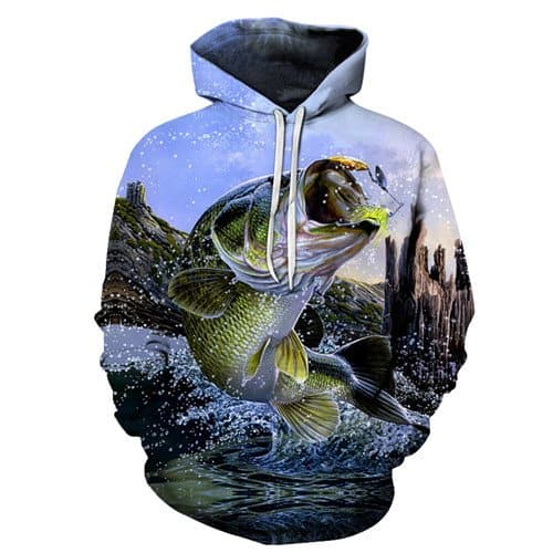 Chill Hoodies Jumping Fish Hoodie Fishing Adult Unisex Sweatshirt