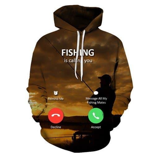Chill Hoodies Fishing Is Calling You Meme Hoodie Unisex Adult Sweatshirt