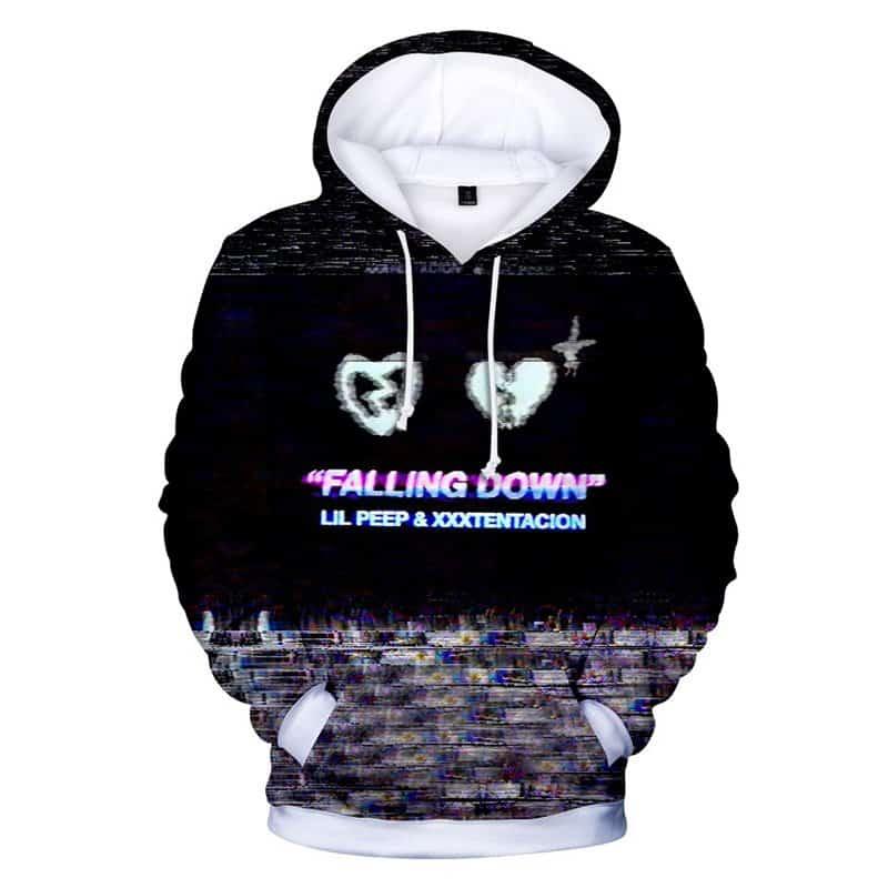 Chill Hoodies Lil Peep and XXXTentacion Hoodie Falling Down Unisex Adult Sweatshirt
