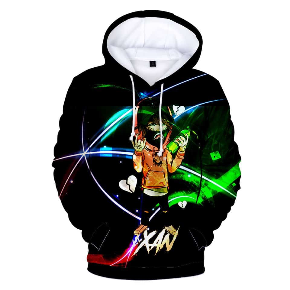 Chill Hoodies Lil Xan Hip Hop Hoodie Black Diego Unisex Adult Sweatshirt