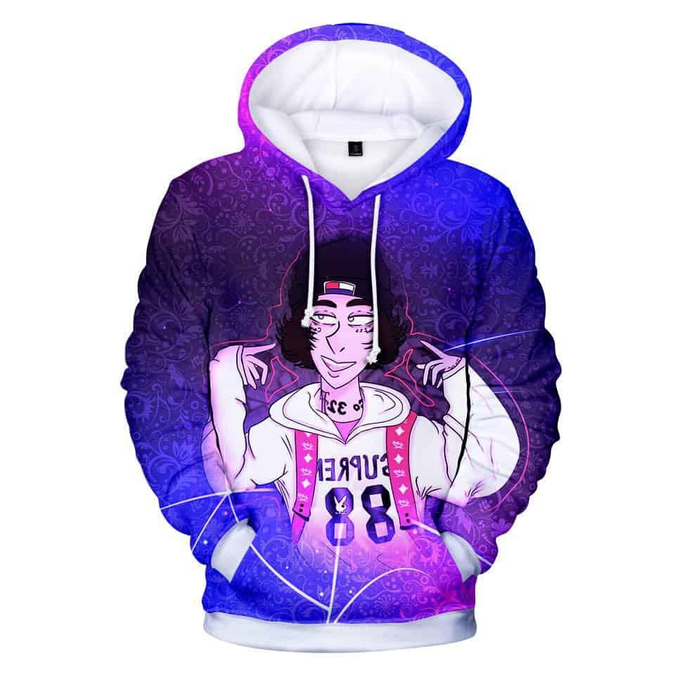 Chill Hoodies Cartoon Lil Xan Hoodie Diego Unisex Adult Sweatshirt