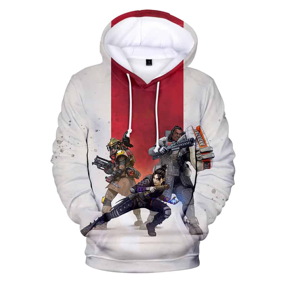 White Hoodie Apex Legends EA Games Hoodie Chill Hoodies Unisex