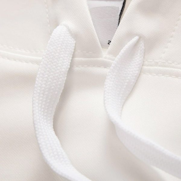White Hoodie Lace Strings Chill Hoodies