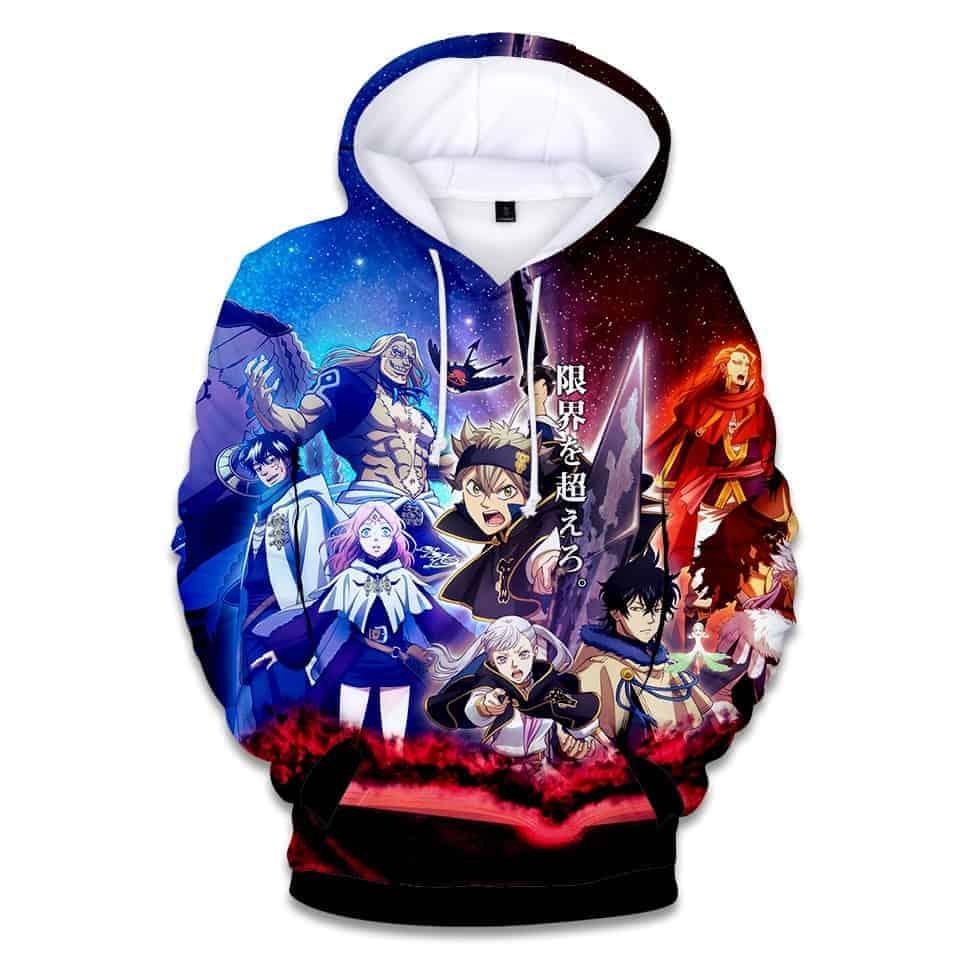 Chill Hoodies Black Clover Hoodie Anime Manga Unisex Adult Male Female Sweatshirt