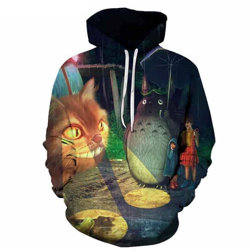 Chill Hoodies Cat Bus My Neighbour Totoro Hoodie Studio Ghibli Unisex Adult Hoodie Sweatshirt