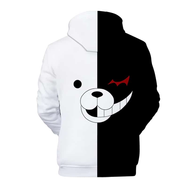 Chill Hoodies Backside View Monokuma Danganronpa Hoodie Sweatshirt Unisex Adult Back Manga Anime