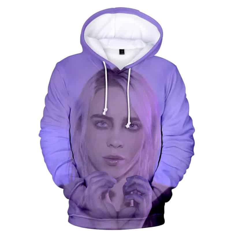 Chill Hoodies Purple Billie Eilish Hoodie Sweatshirt Unisex Adult American Children