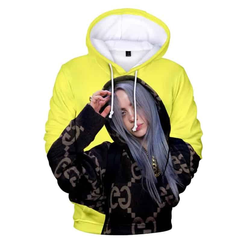 Chill Hoodies Yellow Billie Eilish Hoodie Sweatshirt Adult Unisex Children Women Six Feet Under